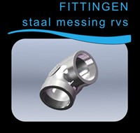 Fittingen Gegalvaniseerd staal Messing RVS